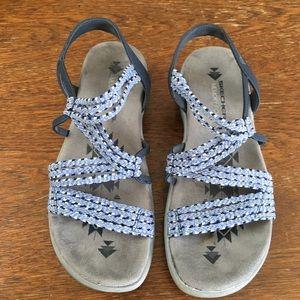 Skechers memory foam blue sandals